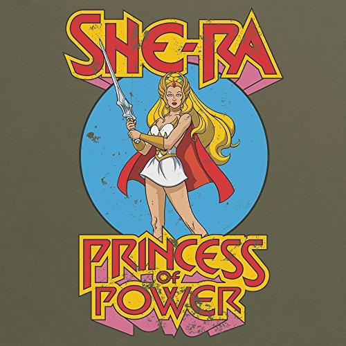 Official Masters of the Universe - She-Ra T-Shirt, Herren Olivgrn