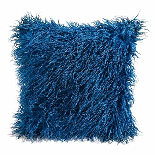 BakeLIN Kissenbezug Kaschmir Mode Plüsch Quadrat Pillowcase Lendenkissen Kissenhuelle Sofa Haus Dekoration 45cm*45cm (45cm*45cm, Blau) (Mikrofaser-plüsch-hase)