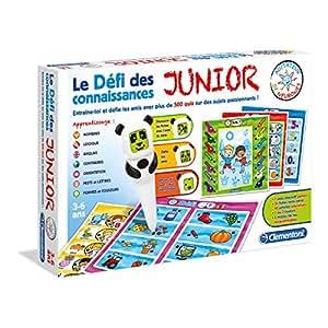 Clementoni - 52135-Défi des connaissances Junior-Jeu éducatif