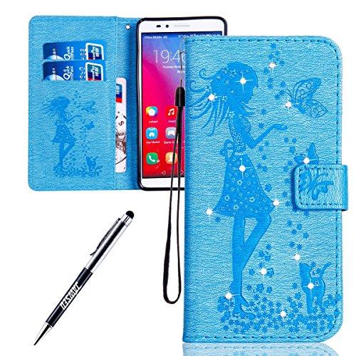 Huawei-Honor-5X-Custodia-Huawei-GR5-Custodia-Huawei-Honor-5X-Huawei-GR5-Custodia-Pelle-Portafoglio-JAWSEU-Shock-Absorption-3D-Goffratura-Fiore-Farfalla-Lusso-PU-Leather-Flip-Cover-Custodia-per-Huawei-