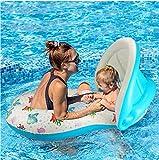 Lvbeis Baby Schwimmen Float Pool Spielzeug mit Mama Schwimmring - Abnehmbare Baldachin