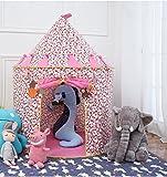 Vpaly-Tipi Enfant Château Princesse Cabane Enfant Intérieur Teepee Maison Chateau de princesse Tente de Jouet et Maison de Jouet pour les enfants pour intérieur et extérieur (rose)