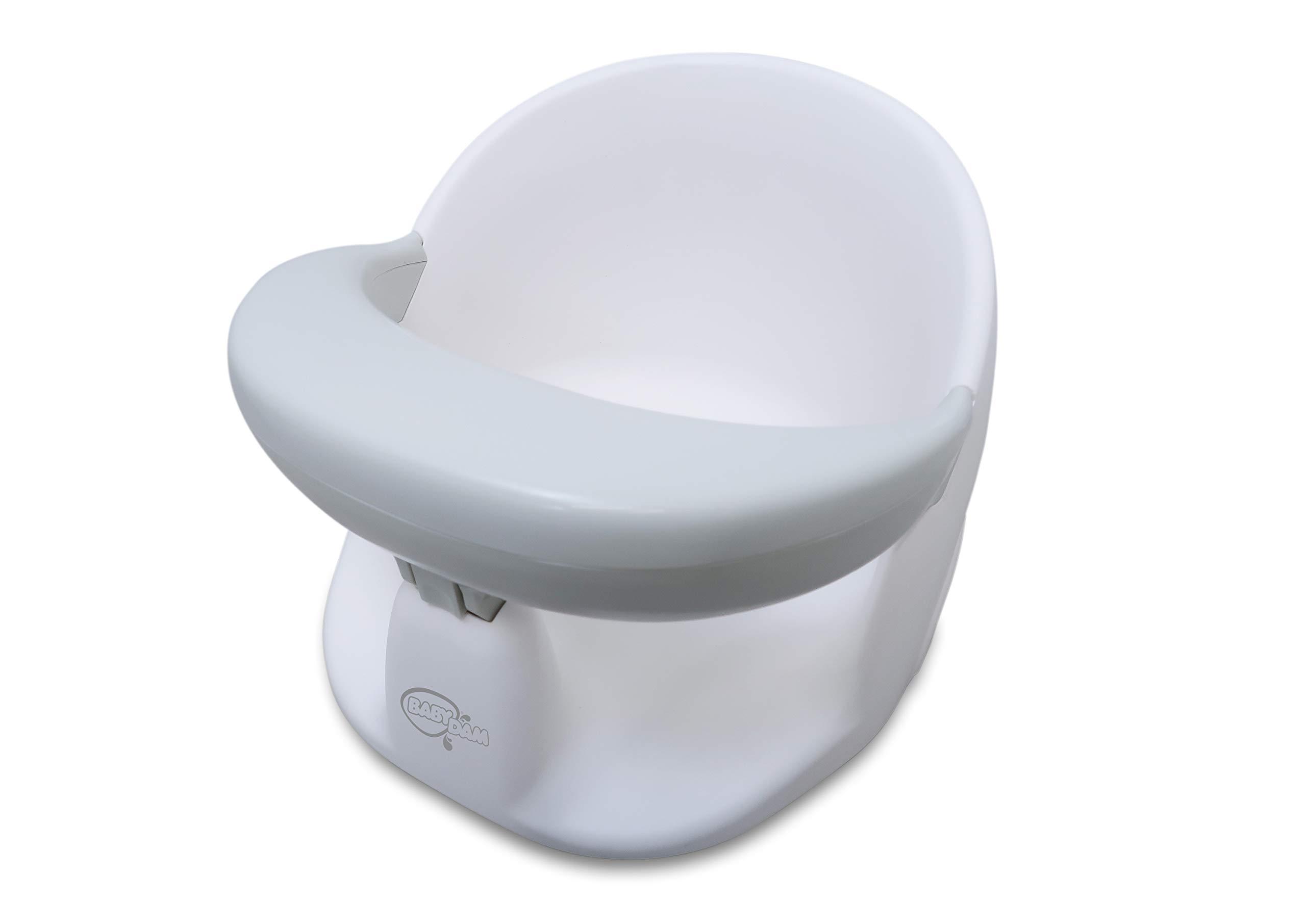 BabyDam Baby Orbital Swivel Bath Seat - White/Grey 1