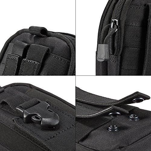 14c2b620e0fb1 ... egooz Tactical MOLLE EDC Tasche Utility Gürtel Taille Gadget Tasche mit  Handy Holster Halterung für Camping