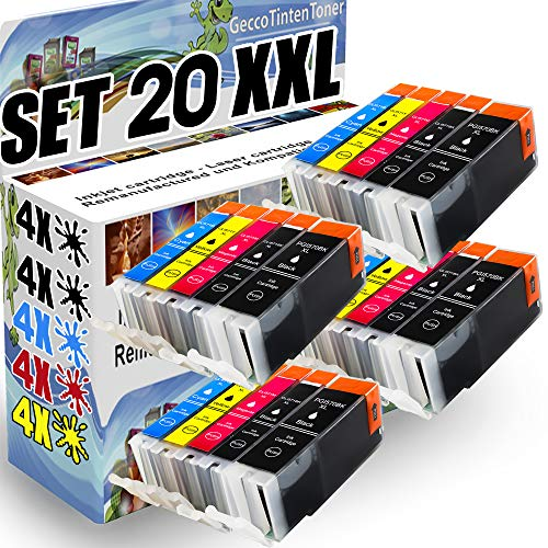 Spetan 20 Druckerpatronen kompatibel für Canon PGI-570 XL CLI-571 XL mit Chip für Canon Pixma TS5050 MG5750 MG7750 MG5751 MG5752 MG5753 MG6850 MG6851 MG6852 MG6853 TS5051 TS6050 TS6051 TS6052 TS5055