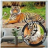 GREAT ART XXL Poster - Majestätischer Tiger - Wandbild Dekoration Panthera Tigris Raubkatze Wildkatze Wildtiere Großkatze Tierbilder Wandposter Fotoposter Wanddeko Bild (140 x 100 cm)