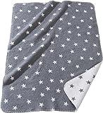 Unbekannt Kuscheldecke - Babydecke - Erstlingsdecke - grau - Größe 75x100 cm - 100% Baumwolle