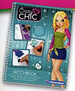 Crazy Chic Clementoni 15919-Sketchbook, Moda Rock Estilo metropolitano