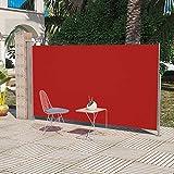 Tidyard Auvent Latéral Protection UV Rouge 180 x 300 cm