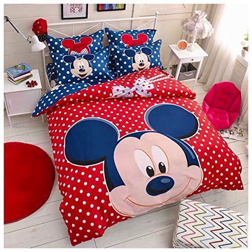 Peachy Baby Bettwäsche-Set Disney Mickey Maus für Einzelbett, Doppelbett, 3- und 4-teilig, rot, Twin Size (Mickey-mouse-twin Bettwäsche)