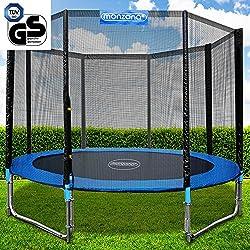 Gartentrampolin Trampolin | TÜV SÜD GS zertifiziert | Ø 366 cm | Komplettset inkl. Sicherheitsnetz, Leiter, Federabdeckung & Zubehör - Kindertrampolin
