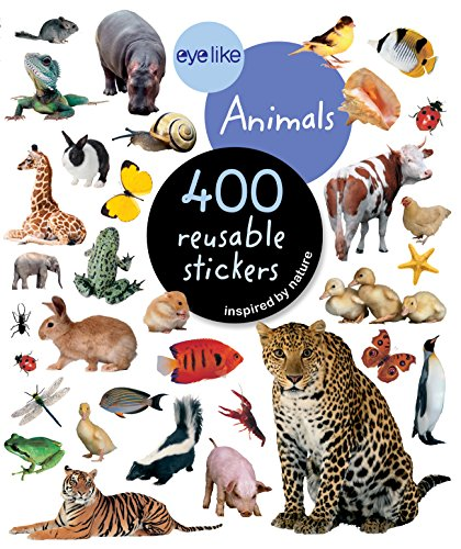 EyeLike Stickers: Animals: 400 reusable stickers inspired by nature (Chicago-skateboard)