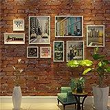 ZYDJ PF Set Cornici Foto, Cornici Foto da Appendere da 2 di 25x30 Cm, 2 di 30x40 Cm, 3 di 15x15 Cm,2 di 15x30 Cm, Migliori Decorazioni da Muro, Legno(9 Foto DIY, Bianco)