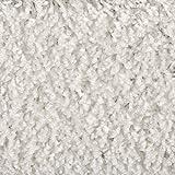 Teppichboden Auslegware Hochflor Shaggy Langflor Velour weiß 400 und 500 cm breit, verschiedene Längen