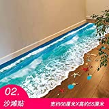 WU-Wall Sticker 3D zum kreativen Bad WC Bad Bodenfliesen Bodenfliesen wasserfeste Aufkleber selbstklebende