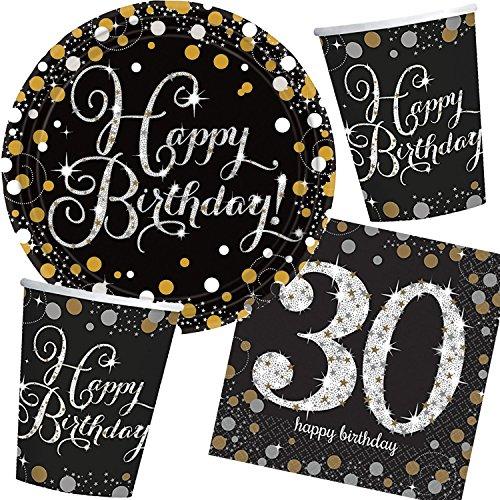 Amscan/Carpeta Lot de 32 pièces de fête avec Assiettes, gobelets, Serviettes, fête Motto 3 pièces