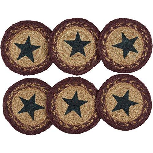 VHC Marken Potomac Jute Untersetzer Schablone Star, Set von 6 - Heartland-zubehör