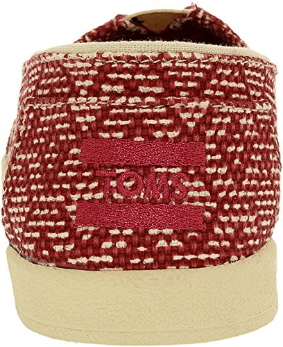 Toms Womens Avalon Slip Sur La Cheville Marocaine Haute Chaussure Plate Rouge Diamant Texturé
