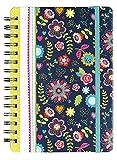 moses. 26120 Notizbuch Flowers DIN A5, 150 Seiten, liniert, kariert und blanko