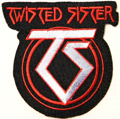 Wortspiele Kostüm - Twisted Sister Schwermetall Wortspiel-Rock-Band Logo Patch Sew Iron on Embroidered Applikation Abzeichen-Kostüm.
