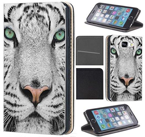 CoverFix Premium Hülle für Apple iPhone 6 / 6s Flip Cover Schutzhülle Kunstleder Flip Case Motiv (1440 Weißer Tiger Löwe Wolf Kopf)