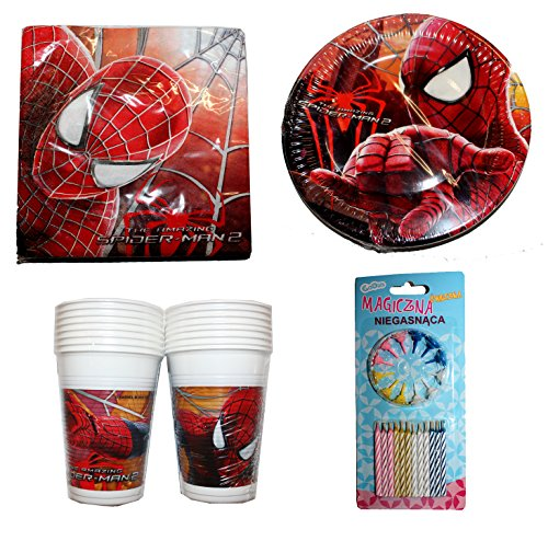 Preisvergleich Produktbild Marvel The amazing Spiderman 2 Party Geschirr 64 Teile Deko Set