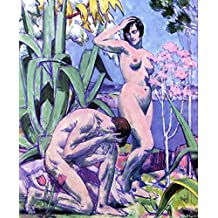 ODSAN Adam And Eve - By Francis Campbell Bolleau (F.C.B.) Cadell - impressions sur toile 24x29 pouces - sans cadre