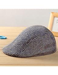 QHGstore Niños de los niños de la boina del casquillo del vendedor de periódicos del sombrero a cuadros gorra de béisbol ajustable del sombrero