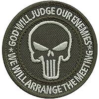 Ranger Green God Will Judge Our Enemies Green US Navy Seals DEVGRU Morale Fastener Patch