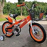 LXYFMS Bicicleta para niños 12/14/16 Pulgadas Carro de bebé 3-8 años de Edad Pedal del bebé Bicicleta Aleación de Aluminio Anillo de Plata Bicicleta para niños (Size : 14 Inch Orange)