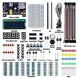 Kit electrónico para principiantes con módulo de fuente de alimentación, cable de puente y tablor para Arduino, para Raspberry Pi, para NodeMCU Lua esp8266