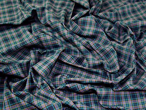 Tartan gebürstete Baumwolle Kleid Stoff Irving–Meterware