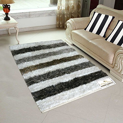Avioni Handloom Rugs Carpets For Living Room In Fur Reversible -3 Feet X 5 Feet