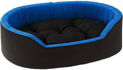 Gorgeous Velvet Super Soft Reversible Bed for Dog and Cat, Small (Blue and Black, GORSBLB0001)