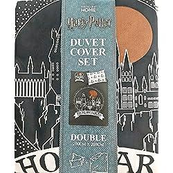 Juego de edredón de Harry Potter Hogwarts, de tamaño doble, reversible, 200cmx200cm