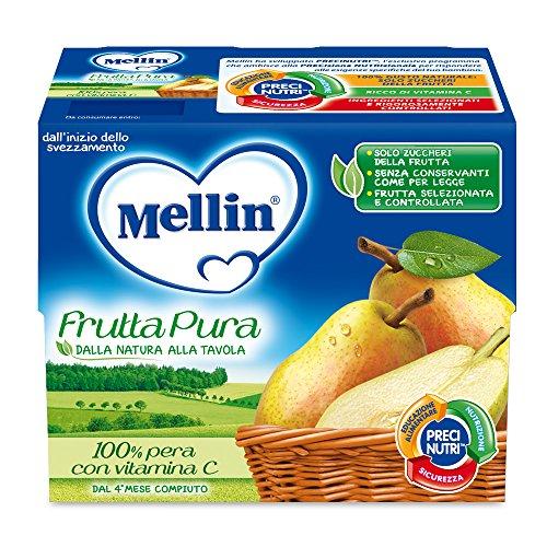 Mellin Frutta Pura Pera 100% Naturale 24 Vasetti da 100 gr