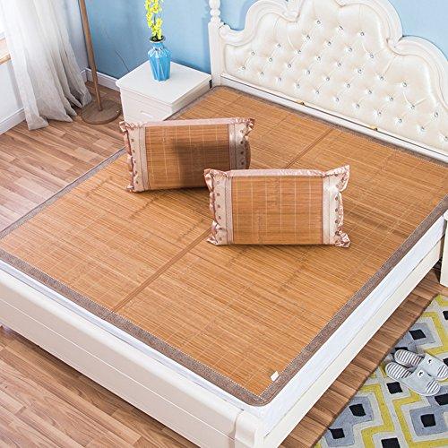 GX&XD Portátil Estera de Dormir de Verano,Rota de bambú carbonizado Estera de...