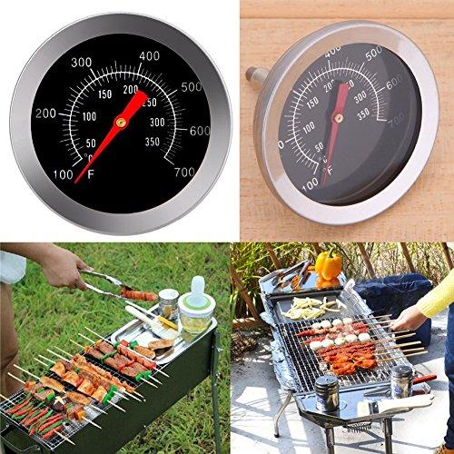 61m Y75BojL - Haushaltsthermometer Bratenthermometer Edelstahl BBQ Zubehör Grill Fleisch Thermometer Zifferblatt Temperatur