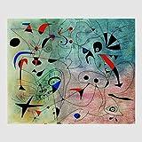 Kunstdruck Poster Bild von Joan Miro - Stella Del Mattino, 1940 80 x 60 cm ohne Rahmen