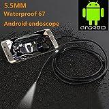 Hanbaili Endoscope androïde avec la vidéo de la caméra LIVE de 5.5mm, câble d'adaptateur de 1 mètre de longueur de câble d'OTG pour le dispositif de comprimé de téléphone androïde