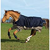 Horseware Amigo Mio Turnout Medium 200g Füllung Navy & Tan Weidedecke Winterdecke 115-160 (155)
