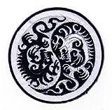 Aufnäher Bügelbild Aufbügler Iron on Patches Applikation Yin Yang Drache Dragon