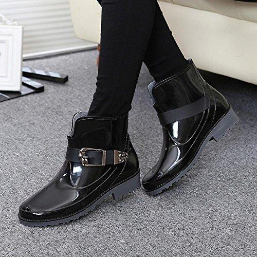 L'autunno e l'inverno Ms. impermeabile moda stivali da pioggia Black