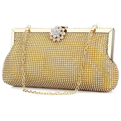 HT ladies evening handbags, Poschette giorno donna Gold