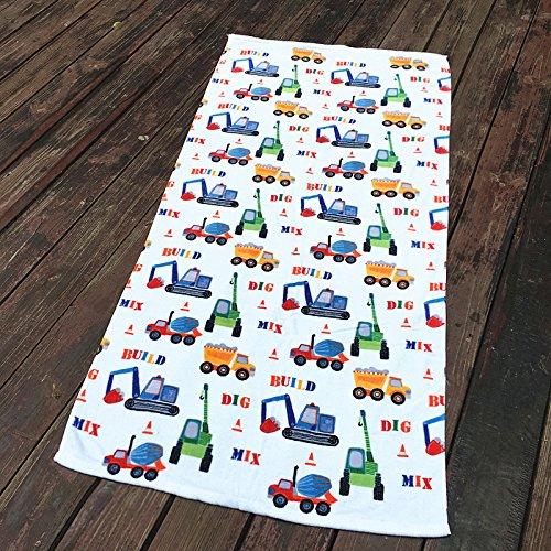 Mangeoopuro cotone per bambini auto carino, cartoon, uomini bagno, grande asciugamano morbido asciugamano acqua 150x70cm,l'attrezzo car,150x70cm