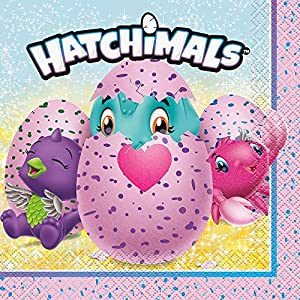 Unique Party 59302 hatchimals - Servilleta de papel, de 6,5 pulgadas