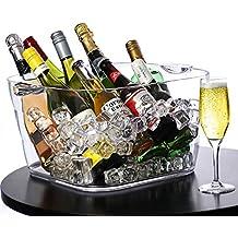 Cubitera cuadrada gigante de acrílico para fiestas - bebidas, vino, enfriador de vino,