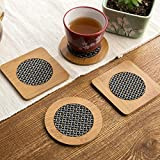 Zollyss Round Square Apple Fish Shape Wood Table Mat Heat-Insulation Drink Coaster Coffee Cup Mat Tea Pad Placemat(Set Of 2 Pc)