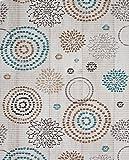 Badvorleger Aquamat Antirutsch Matte, Bad Garten Küche, Blumenkreise, Größe wählbar (200 x 65 cm)