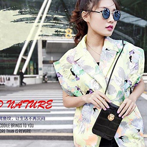 HeHe Mini Elegante Da Donna Borsa A Tracolla Cross-body Bag Portafoglio Nero